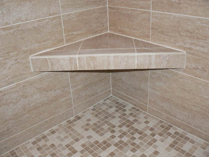 finish with tile showerseat - Shower Seats